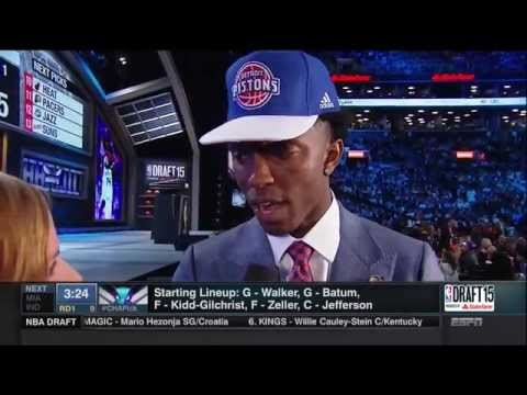 Pistons draft Stanley Johnson 8th overall in the 2015 NBA Draft