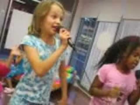 Making  Body lotion and doing karaoke- multi tasking