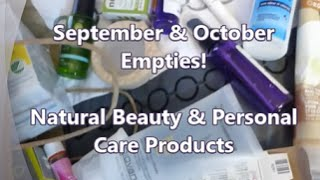 September & October 2014 Empties - Natural Beauty & Skincare Products! Thumbnail