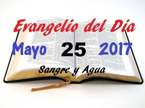 Evangelio del Dia- Jueves 25 Mayo 2017- Jesus Esta Con Nosotros- Sangre y Agua