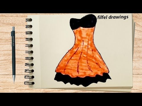 Easy Drawings How To Sketch Fashion Designs Short Dress Youtube