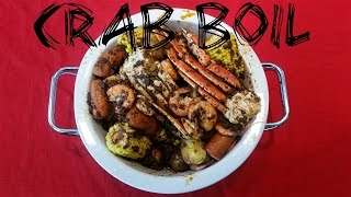 Crab Boil with Snow Crab, Shrimp, Red Potatoes, Corn, Louisiana Hot Sausage, Rice Mukbang