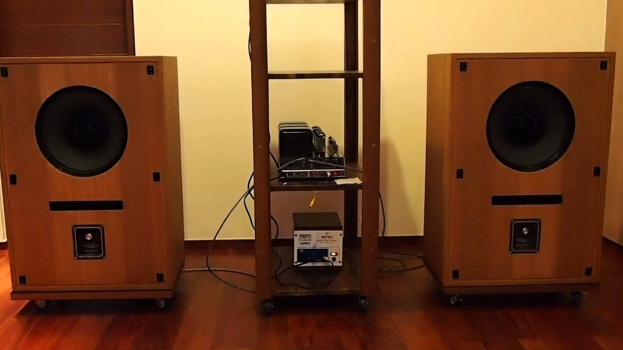 Altec 604G + 620 Cabinet Test #001 - YouTube