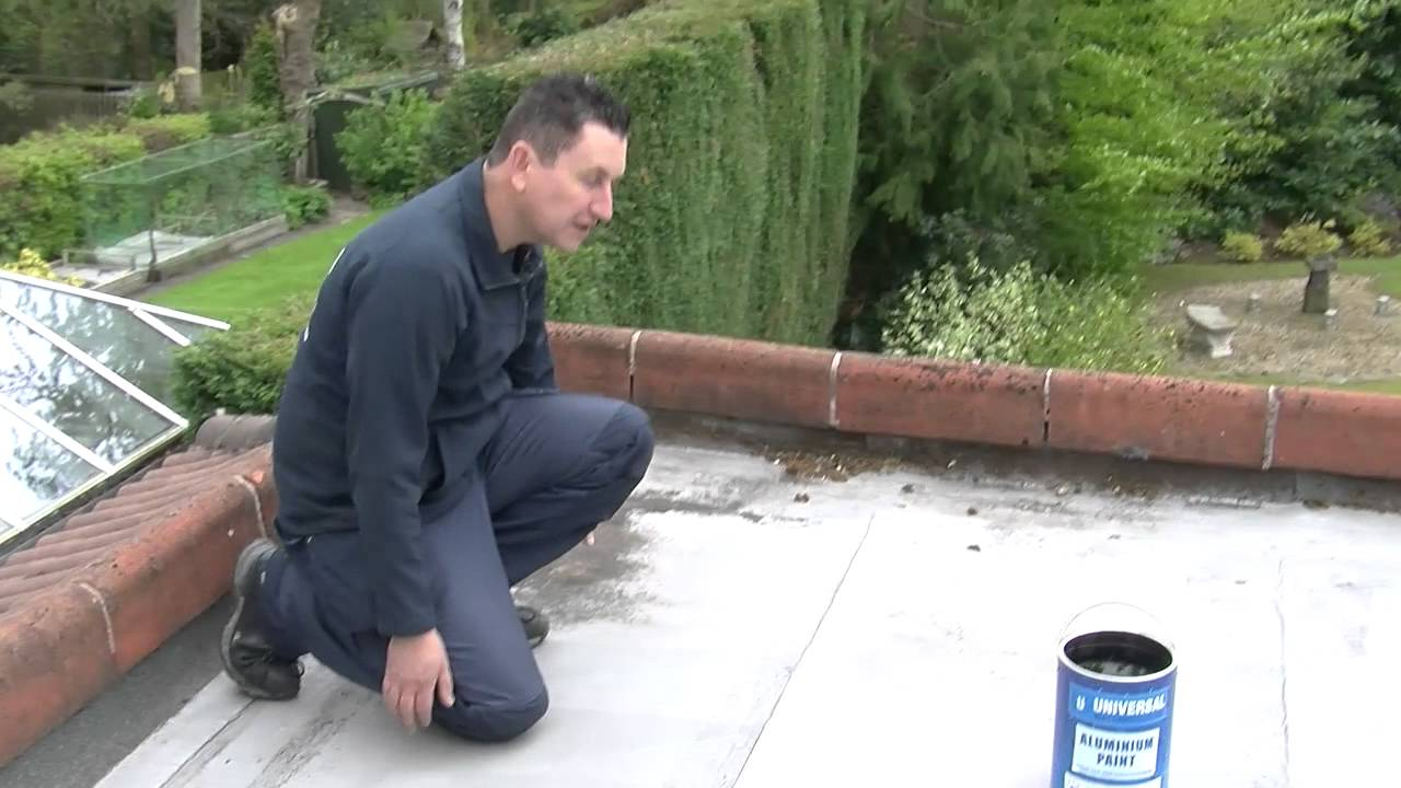 Flat roof maintenance using solar reflective aluminium paint | Dalton  Roofing