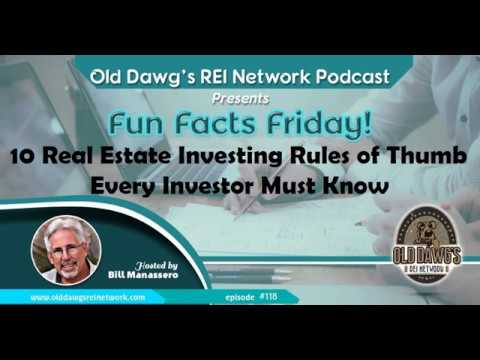 118: 10 Real Estate Investing Rules of Thumb Every Investor Should Know