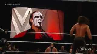 Sting's WWE RAW Debut & Brock Lesnar destroys The Authority - WWE Raw January 19 2015