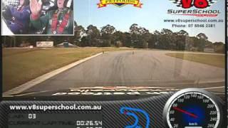 V8 super car training driver course