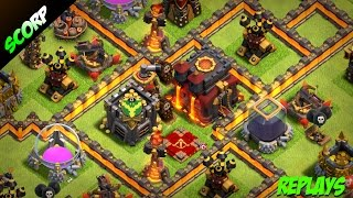 Clash Of Clans 👹 TH10 FARMING BASE 👹TROPHY BASE 👹 REPLAYS