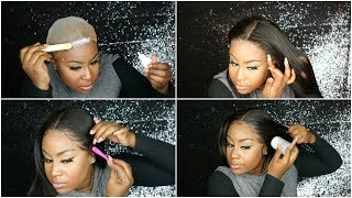 FRONTAL SERIES PT.3: MELT DOWN,APPLYING LACE, BABY HAIRS, SLEEKING THE HAIR   SOCHAR HAIR COLLECTION