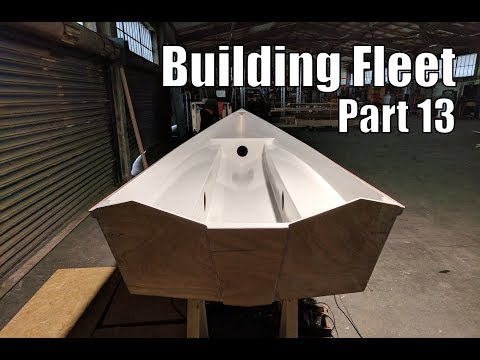 Building Fleet, a small wooden boat #13