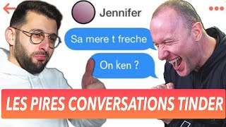 On réagit aux pires conversations Tinder
