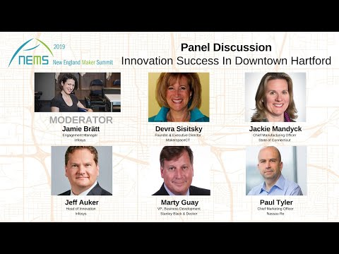 """panel-discussion-""""innovation-success-in-downtown-hartford""""---new-england-maker-summit"""