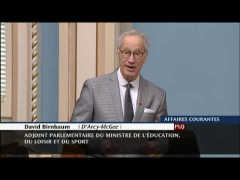 David Birnbaum - Parkinson's Declaration in Quebec National Assembly