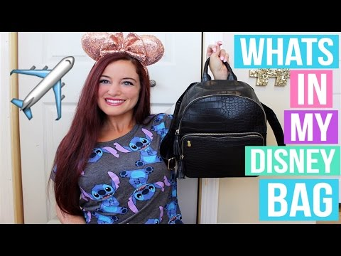 PACKING FOR WALT DISNEY WORLD. WHAT'S IN MY DISNEY BAG 2016   LUGGAGE. CARRY ON. PARK BAG.