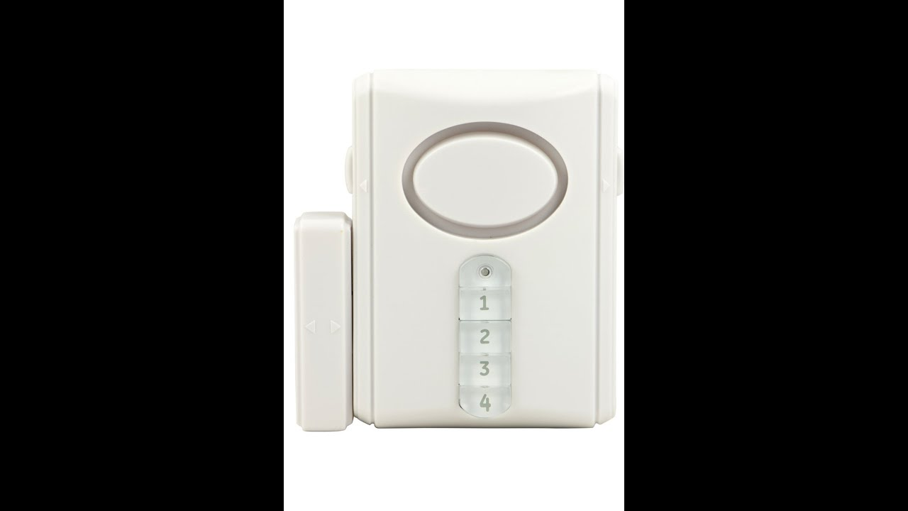 Review: GE 45117 Deluxe Wireless Door Alarm - YouTube