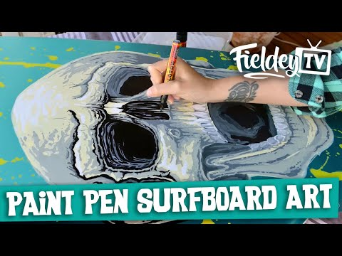 How to use spray paint and paint markers on a surfboard | Ep 2