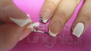 Passione unghie che passione! french e anulare con monocolore polaris e decori animalier
