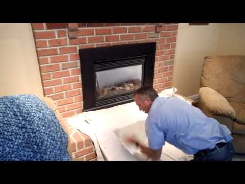 Robert Martin Gas Fireplace Cleaning Step 1