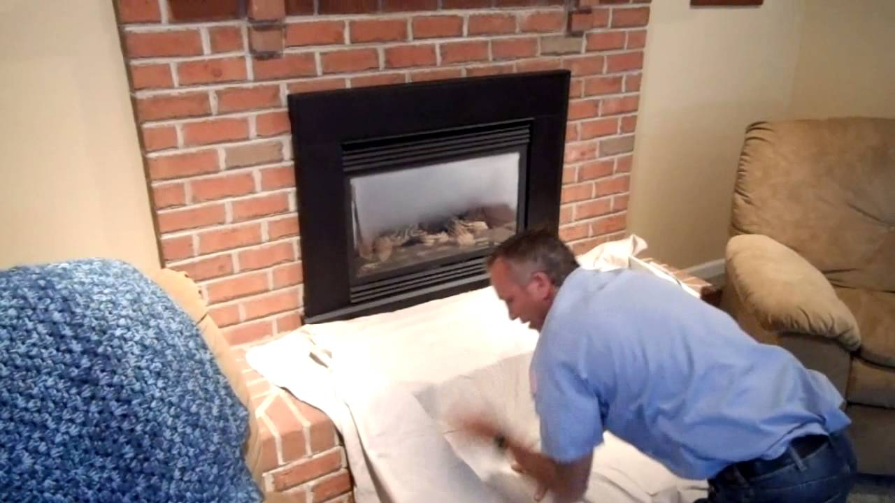 robert martin gas fireplace cleaning step 1 youtube