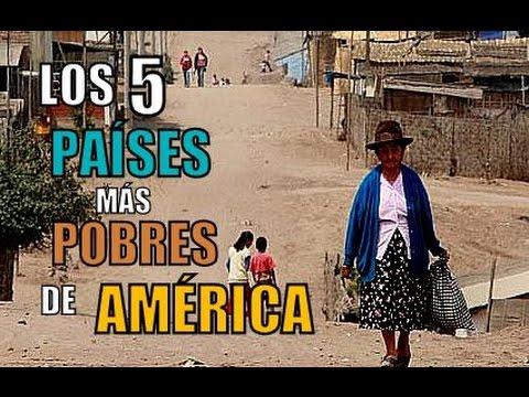 LOS 5 PAÍSES MÁS POBRES DE AMÉRICA