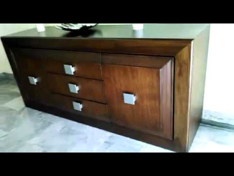 Credenza De Madera Moderna : Fino y moderno comedor de madera piel youtube