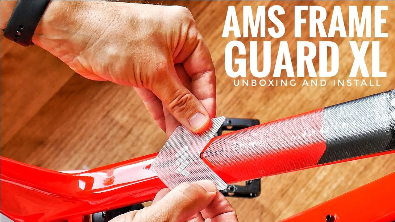 All Mountain Style HONEYCOMB MTB Frame Guard Protection Stickers CLEAR//SILVER XL