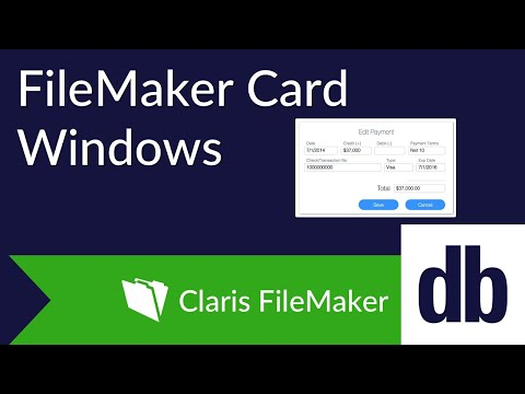 FileMaker Card Windows