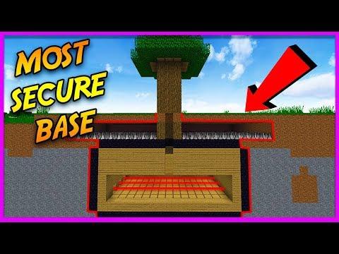 MOST SECURE MINECRAFT TREEHOUSE! (Secret Base Challenge)