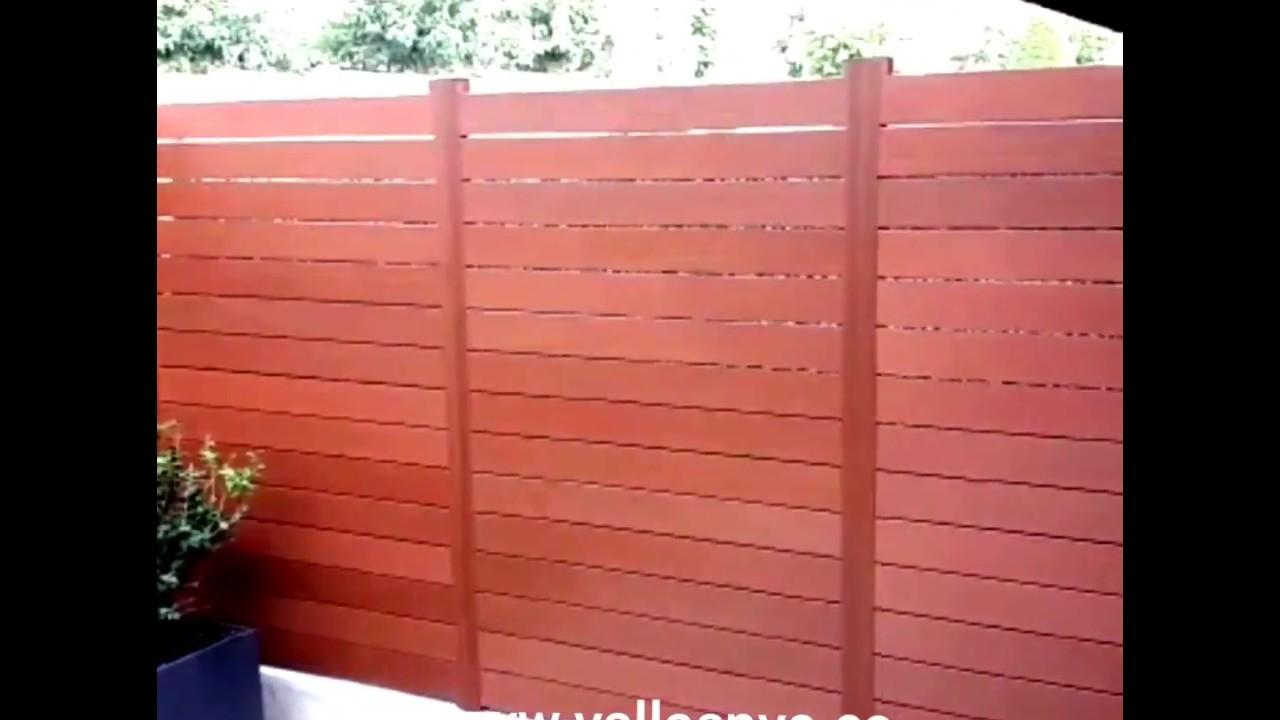 Vallas de pvc para jard n youtube - Vallas jardin pvc ...