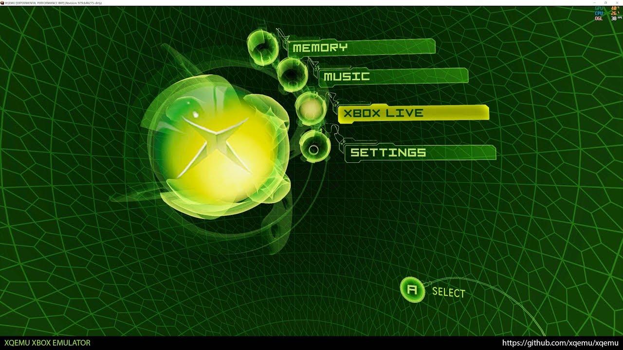 XQEMU Xbox Emulator - Xbox Dashboard at 4k 2160p! (Experimental Performance  WIP)