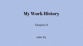 Gambar cover My Work History - Chapter 8
