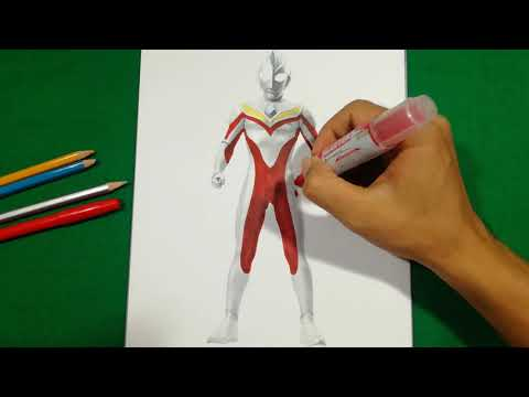 ULTRAMAN DYNA SAY NOTHING WITH RED COLOR Coloring Pages SAILANY Coloring Kids