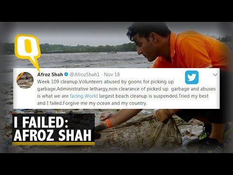 """I am Sorry, I Give Up"": Afroz Shah Suspends Mumbai Beach Clean-Up 