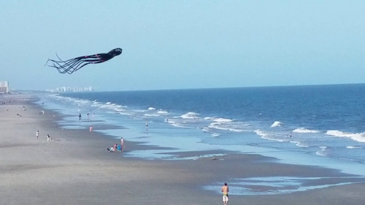 Giant Octopus Kite Garden City Pier In South Carolina Myrtle Beach Area April 29 2017