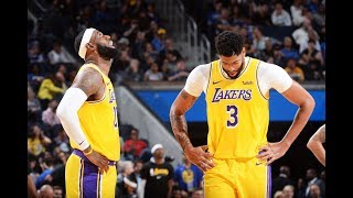 Lakers 1st Half Highlights vs. Warriors   LeBron & AD First Preseason Game Together