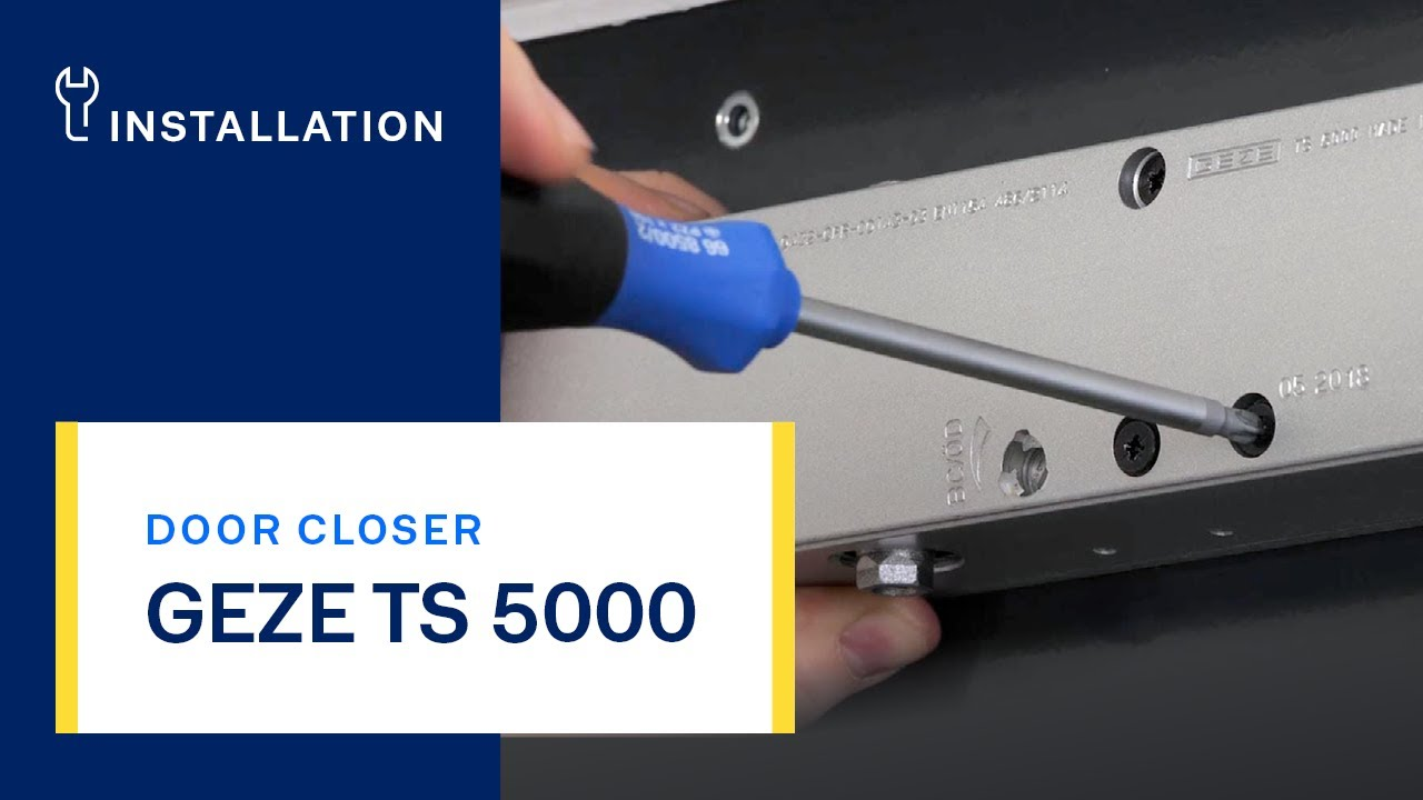 Geze Ts 5000 Door Closer Installation And Settings Youtube