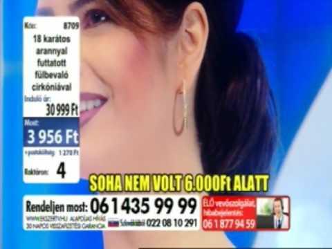 Adela Lupse, Jewelery model at TV2, host Akos Gergo(culise)