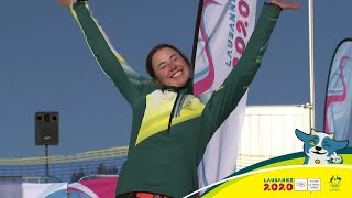 Josie Baff  wins  Australia's first Winter Youth Olympic games gold medal