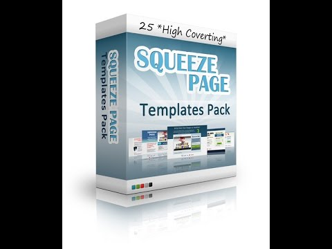 25 squeeze page templates youtube