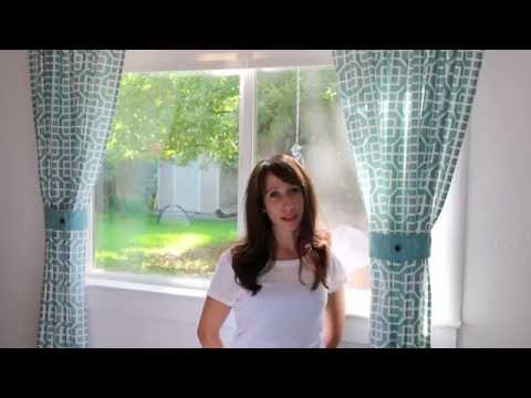 How To Make Simple Curtains Out of a Tablecloth DIY