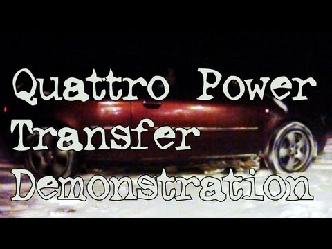 Quattro (Haldex) Power Transfer Demonstration (Slow Motion)