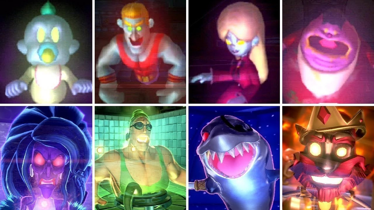 All Portrait Ghost Bosses In Luigi S Mansion Games