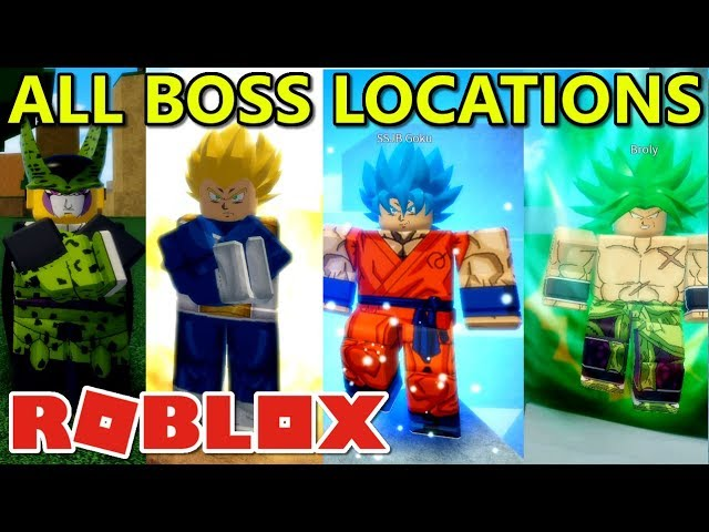 All Boss Locations Dragon Ball Ultimate Roblox Dragon Blox