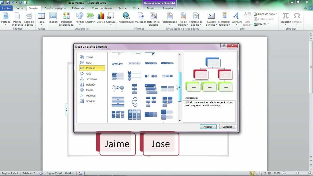 Cómo trabajar con SmartArt en Microsoft Word 2010