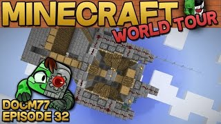 Red Sand Generator & Auto Tree Farm! - The Minecraft World Tour - S4E032 | Docm77
