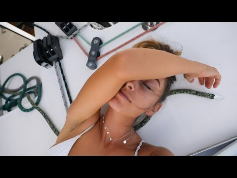 BOAT LIFE: The Exhaustion sets in.. 5 Days at Sea. Ep. 223