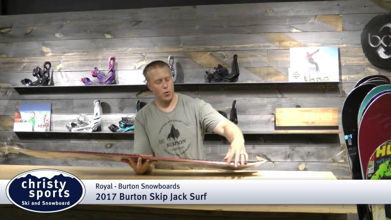 Quemar Shuraba romántico  2017 Burton Skip Jack Surf Snowboard Review - Christy Sports - YouTube