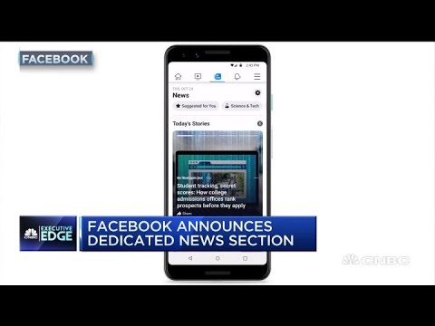 Facebook Announces Dedicated News Section
