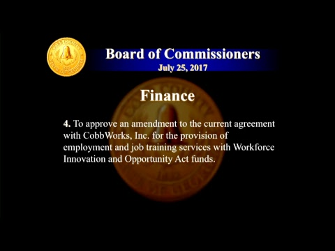 Cobb County Board of Commissioners - 07/25/17