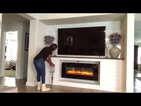 Diy Electric Fireplace How To Style A Fireplace Mantel Youtube